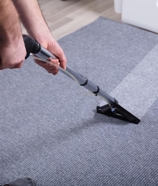 Deep cleaning an office carpet